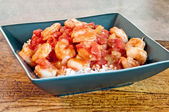 Shrimp Creole Served on Rice — Stock Photo
