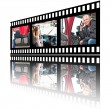 Film Stip Images of Woman Truck Driver — Stock Photo