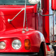 Stock Photo: Close View of Semi-Truck Front End