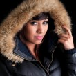 Stock Photo: Pretty Girl in Parka