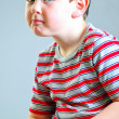 Little Boy Tough Guy Look — Stock Photo