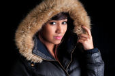 Pretty Girl in a Parka — Stock Photo
