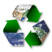 Recycle Symbol of Planet Earth — Stock Photo