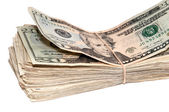 Stack of USA Currency — Stock Photo
