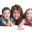 Young Mother with Two Children — Stock Photo #43643705