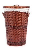 Wicker hamper — Stock Photo