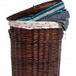 Wicker hamper - Stock Photo