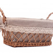 Large empty wicker basket — Stock Photo