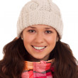 Woman wearing warm clothes — Stock Photo #18026339