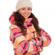 Woman wearing warm clothes — Stock Photo