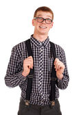 Portrait of a young nerd — Stock Photo