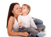 Happy mother with a child — Stock Photo