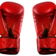 Pair of red leather boxing gloves — Stock Photo #21213477