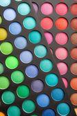 Colorful eye shadows palette — Stock Photo