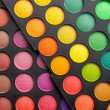 Colorful eye shadows palette - Stockfoto