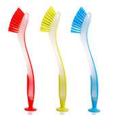 Renkli bulaşık yıkama fırçaları — Stok fotoğraf