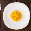 Stock Photo: Corn seeds on plate