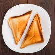 Stock Photo: Grilled sandwich on plate