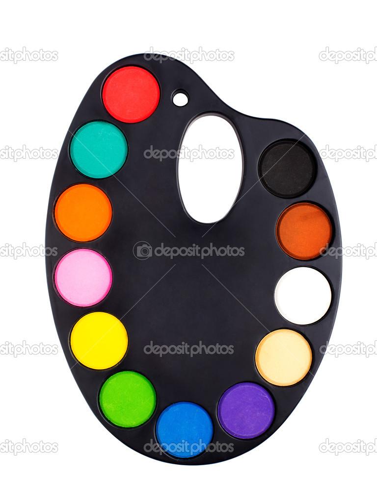 Palette de lart plastique avec de la peinture for Art plastique peinture