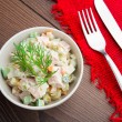 Russian traditional salad — Stock Photo