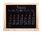 Calendar 2014. August — Stock Photo
