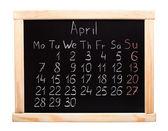 Calendar 2014. April — Stock Photo