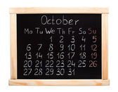 Calendar 2014. October — Stock Photo