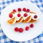 Delicious homemade cheese pancakes — Stock Photo