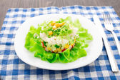 Crab salad with mayonnaise — Stock Photo