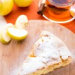 Stock Photo: Slice of delicious fresh baked apple pie