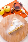 Slice of delicious fresh baked apple pie — Stock Photo