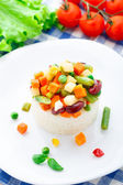 Delicious rice with vegetables — Stock Photo