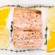 Salmon fillet with citrus and thyme — Stock Photo
