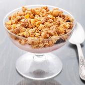Yogurt with muesli — Stock Photo