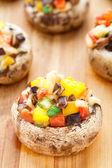 Stuffed portabella mushroom — Stock Photo