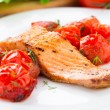 Salmon with roasted tomatoes — Stock Photo #35548253
