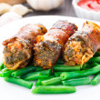 Bacon wrapped cutlet — Stockfoto