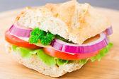 Vegetable sandwich — Stock Photo