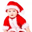 Christmas baby in Santa Claus clothes — Stock Photo