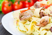 Pasta with octopus — Stock Photo