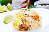Salmon fried rice — Stock Photo