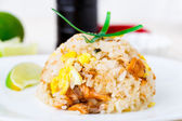 Salmon fried rice — Stockfoto