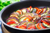 Ratatouille in a pan — Stock Photo