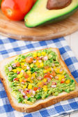 Sandwich with avocado — Stock Photo