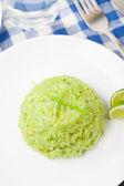 Kremowy ryż awokado — Zdjęcie stockowe