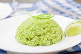 Creamy avocado rice — Stock Photo