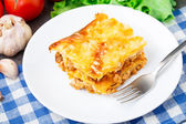 Italian lasagna on a plate — Stock Photo