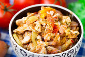 Vegetable ragout with chicken brests — Stock Photo