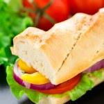 Постер, плакат: Vegetarian baguette sandwich