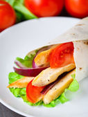 Chicken kebab wrap — Stockfoto